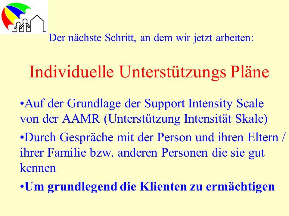 Individuelle Unterstützungs Pläne