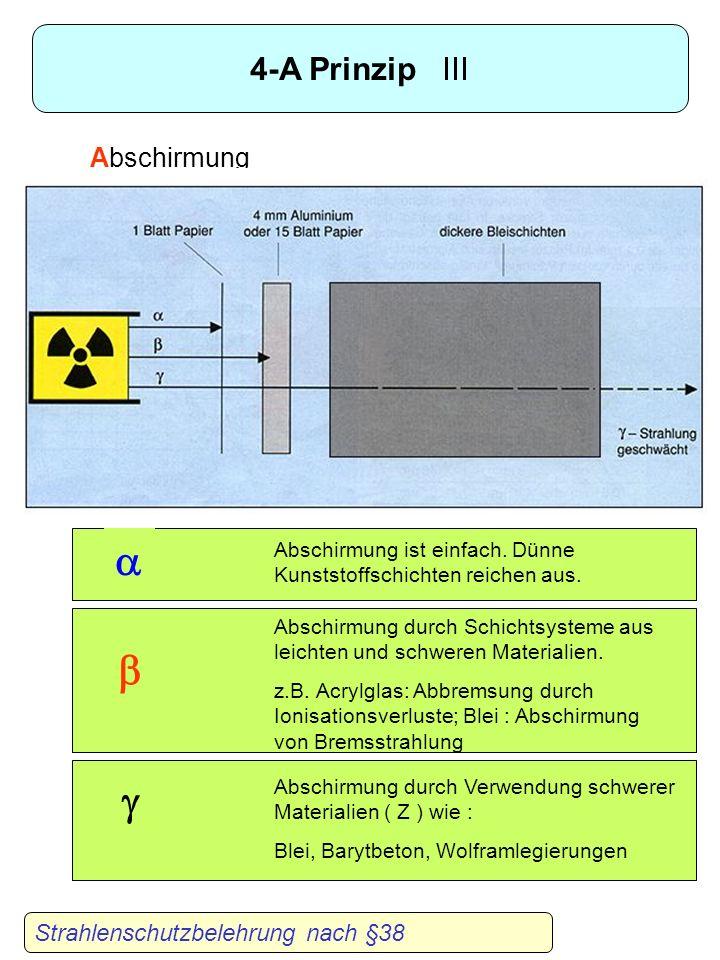 a b g 4-A Prinzip III Abschirmung Strahlenschutzbelehrung nach §38
