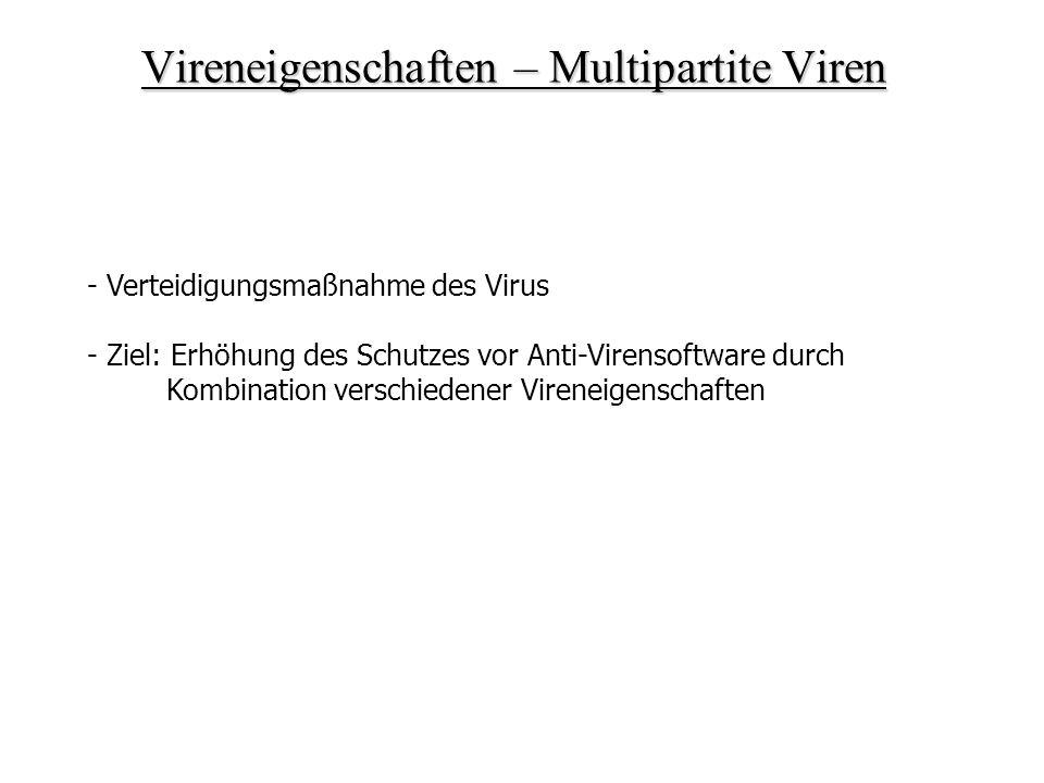 Vireneigenschaften – Multipartite Viren