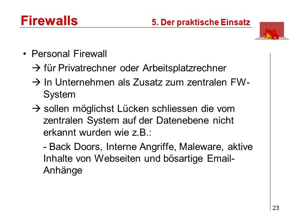 Firewalls Personal Firewall