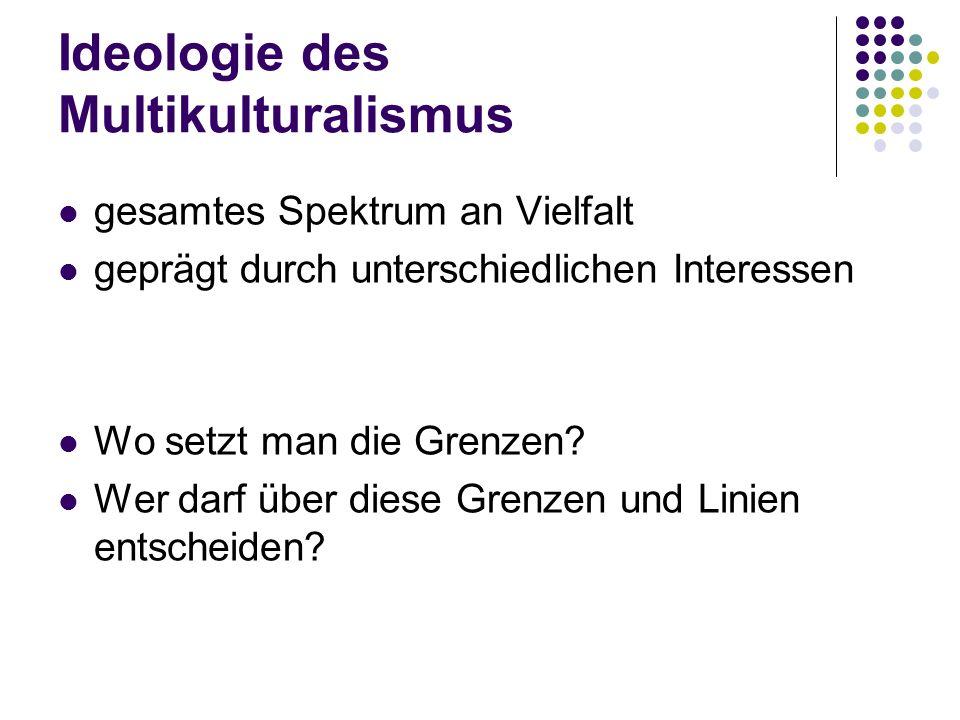 Ideologie des Multikulturalismus