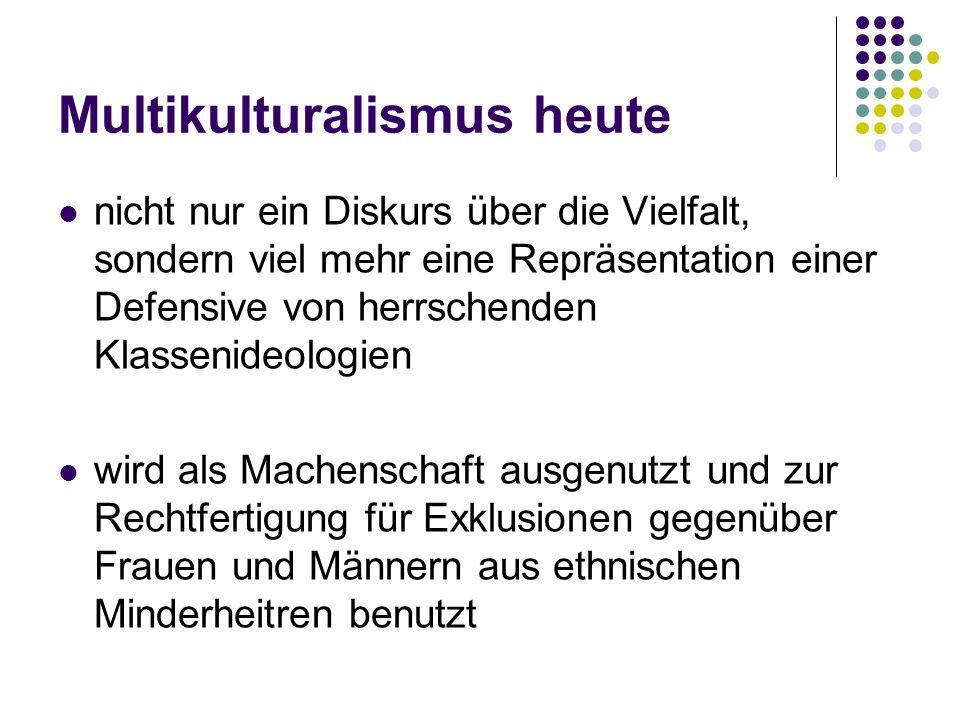 Multikulturalismus heute