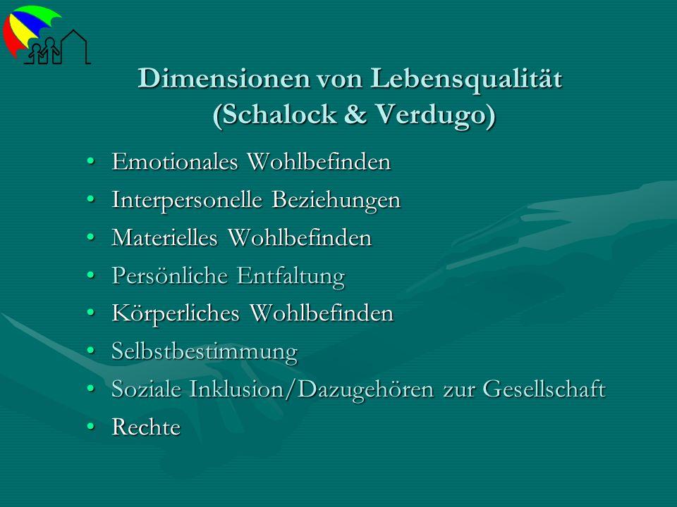 Dimensionen von Lebensqualität (Schalock & Verdugo)