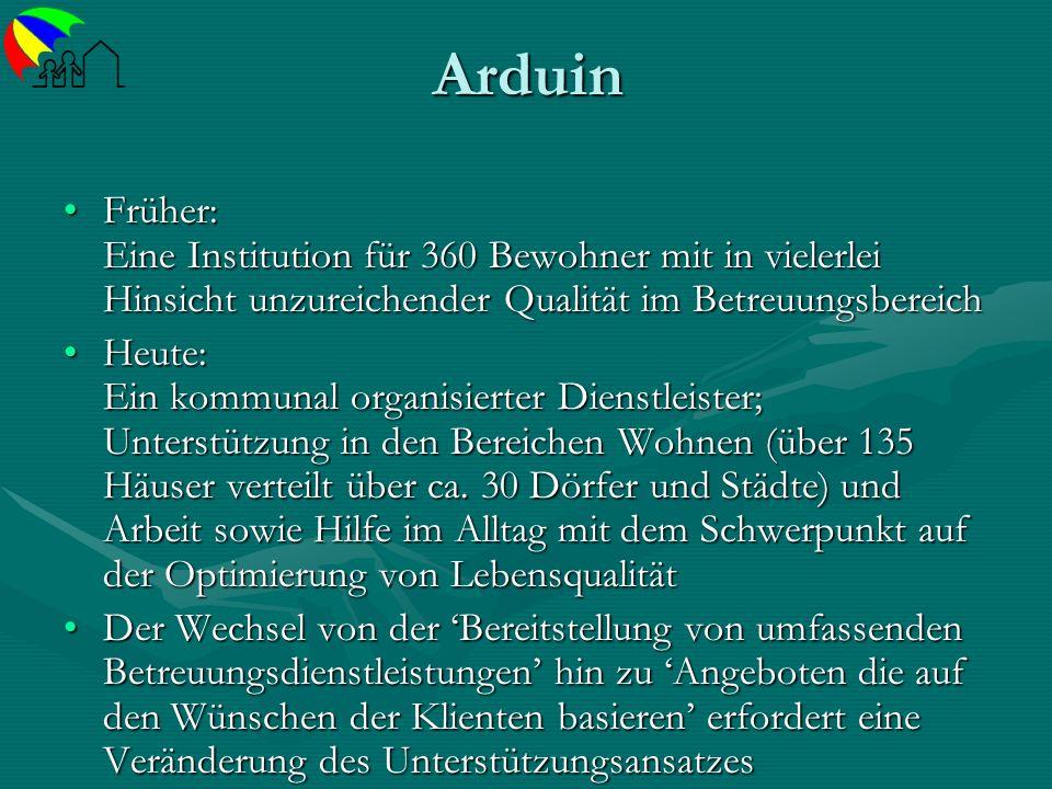 ArduinFrüher: Eine Institution für 360 Bewohner mit in vielerlei Hinsicht unzureichender Qualität im Betreuungsbereich.