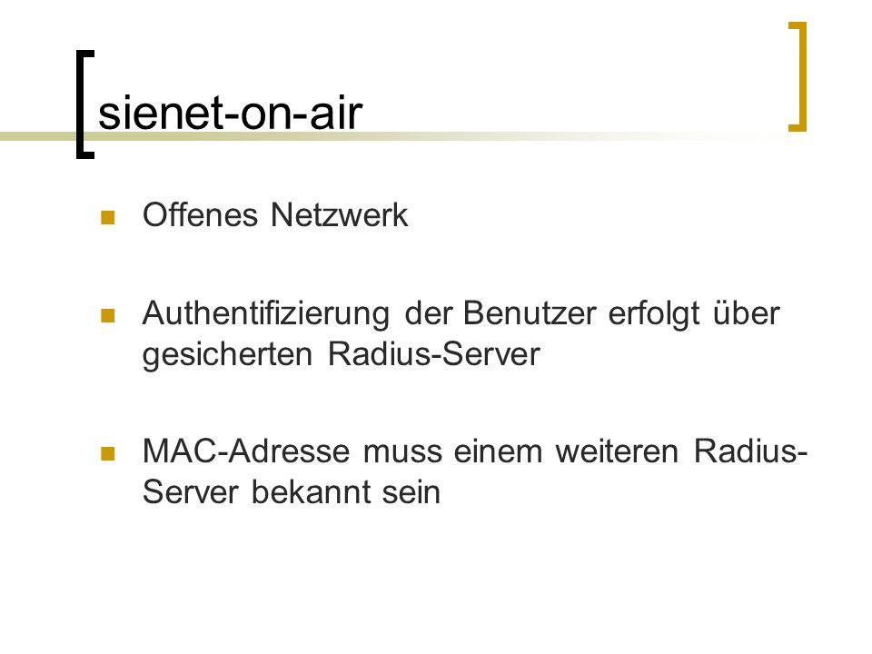 sienet-on-air Offenes Netzwerk