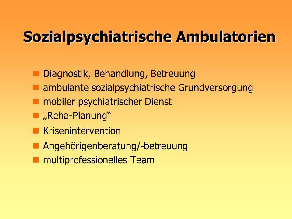 Sozialpsychiatrische Ambulatorien