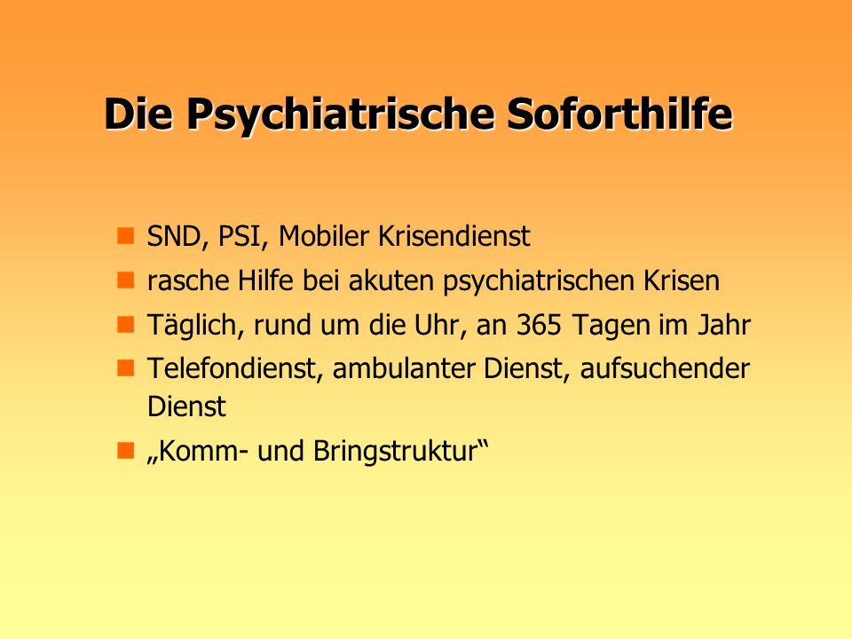 Die Psychiatrische Soforthilfe