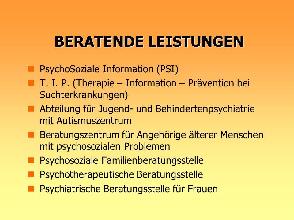 BERATENDE LEISTUNGEN PsychoSoziale Information (PSI)