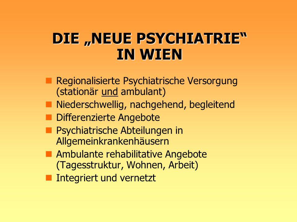 """DIE """"NEUE PSYCHIATRIE IN WIEN"""