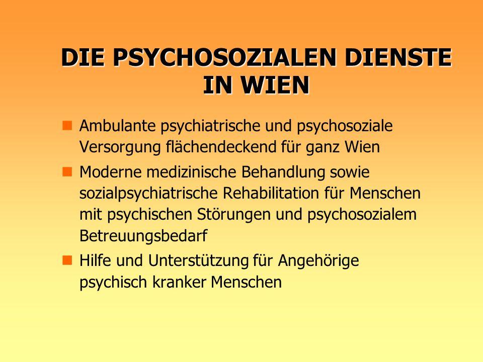 DIE PSYCHOSOZIALEN DIENSTE IN WIEN