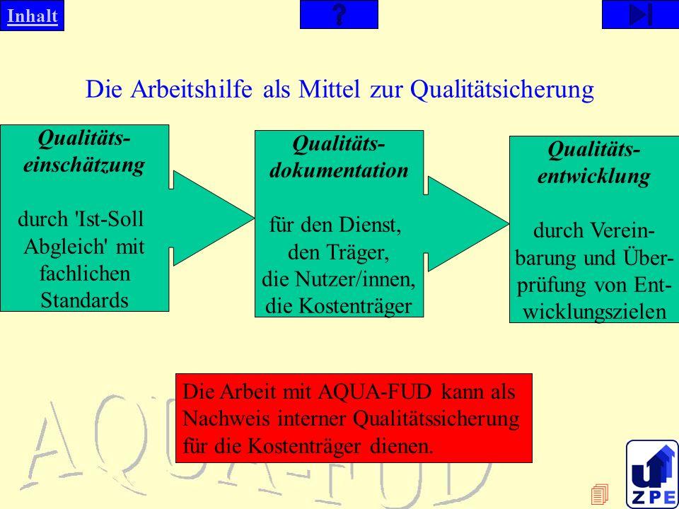 Die Arbeitshilfe als Mittel zur Qualitätsicherung