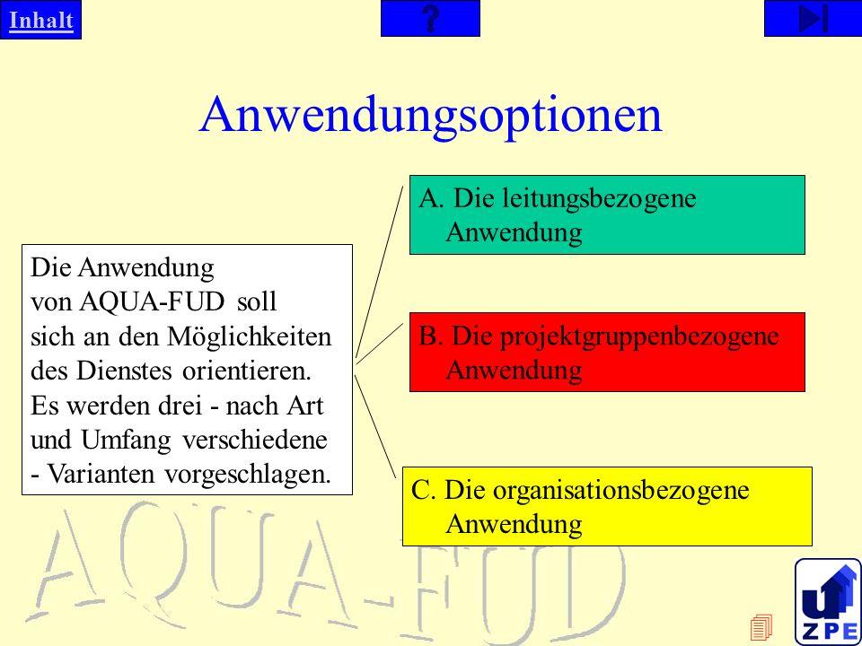 Anwendungsoptionen A. Die leitungsbezogene Anwendung