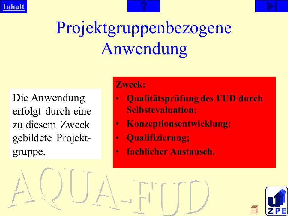 Projektgruppenbezogene Anwendung