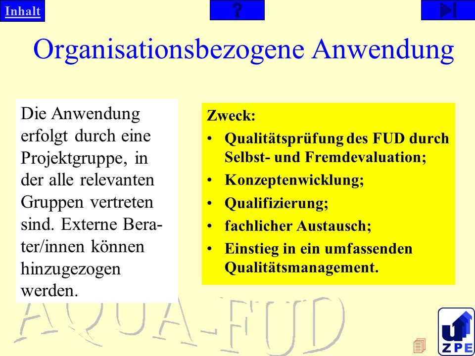 Organisationsbezogene Anwendung