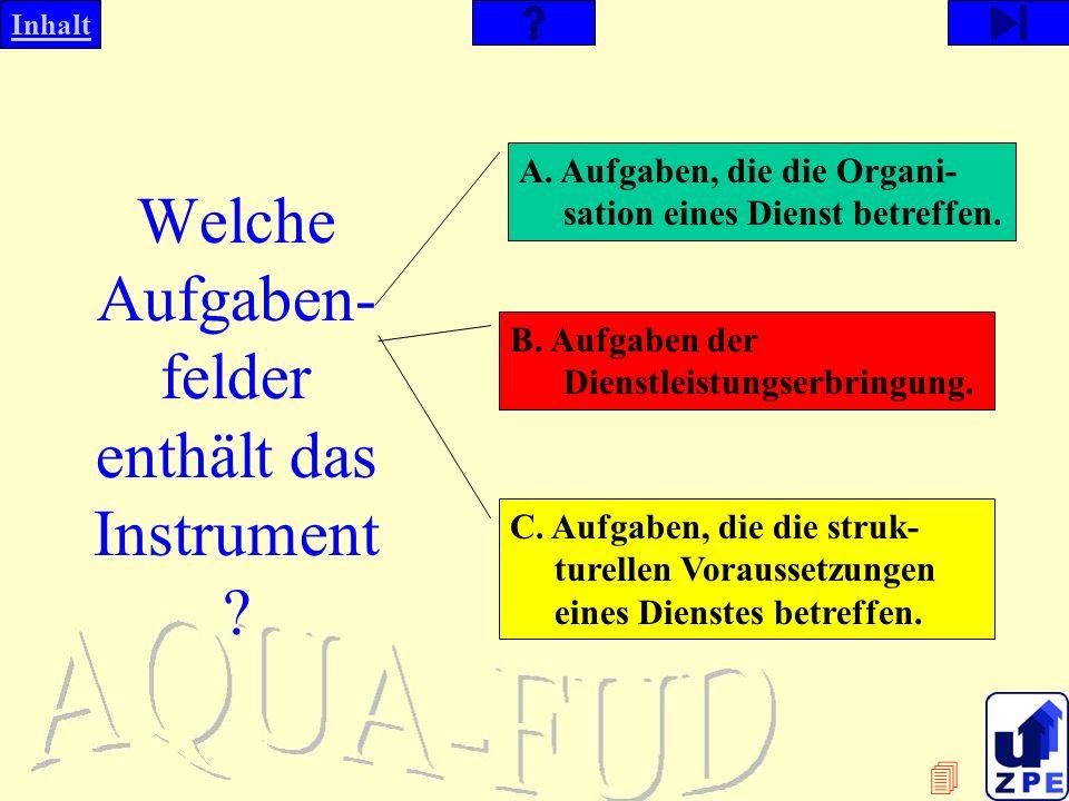 Welche Aufgaben-felder enthält das Instrument