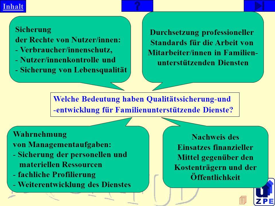 Durchsetzung professioneller Standards für die Arbeit von Mitarbeiter/innen in Familien- unterstützenden Diensten