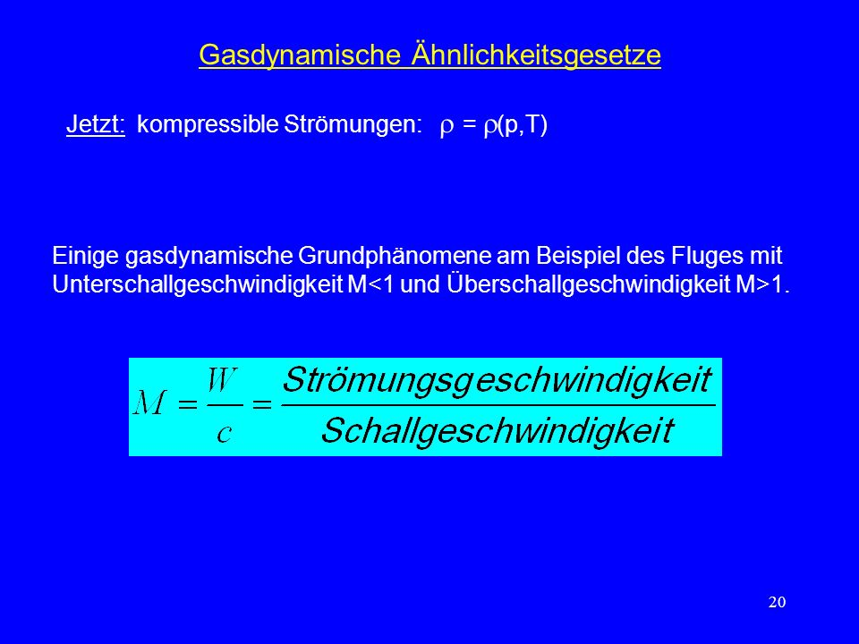 Gasdynamische Ähnlichkeitsgesetze