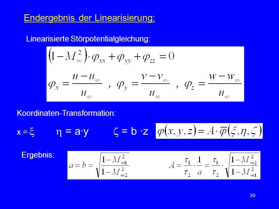 Endergebnis der Linearisierung: