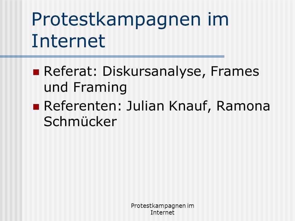 Protestkampagnen im Internet - ppt video online herunterladen