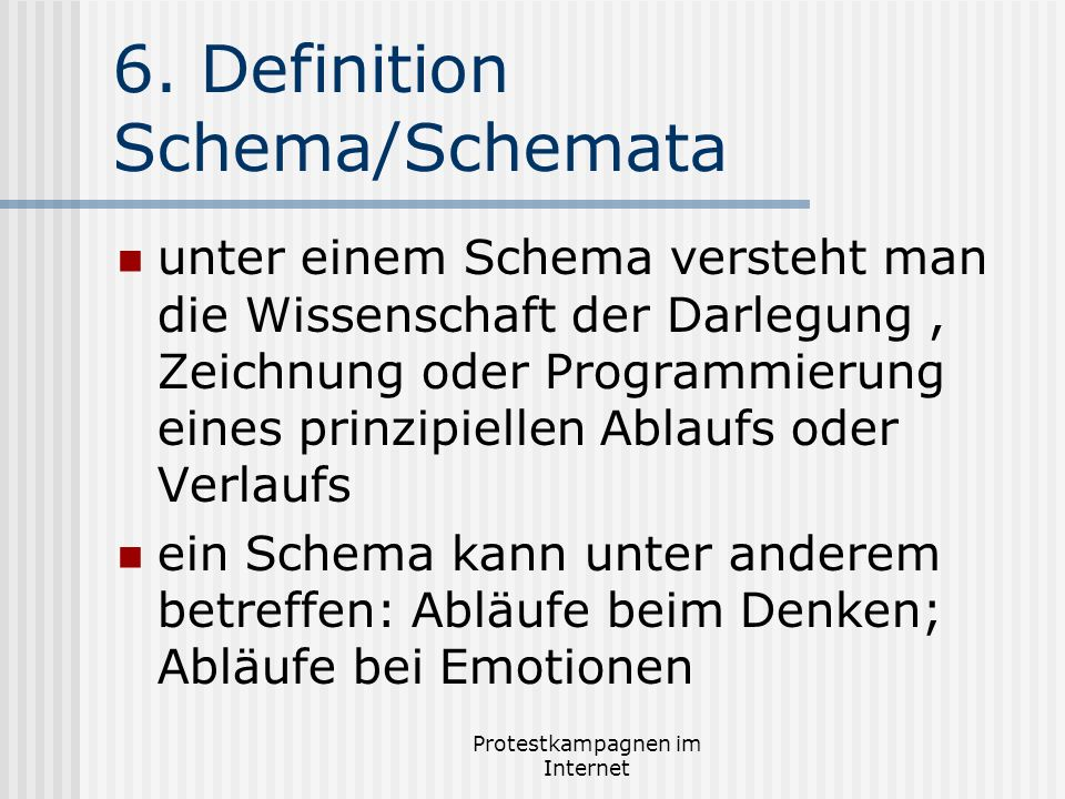 6. Definition Schema/Schemata