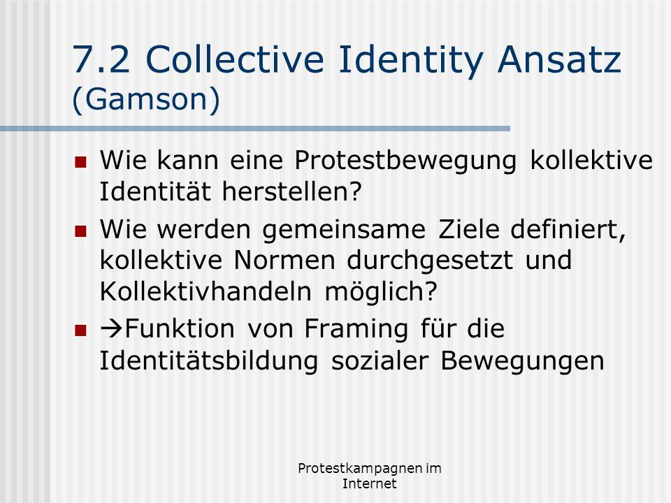 7.2 Collective Identity Ansatz (Gamson)