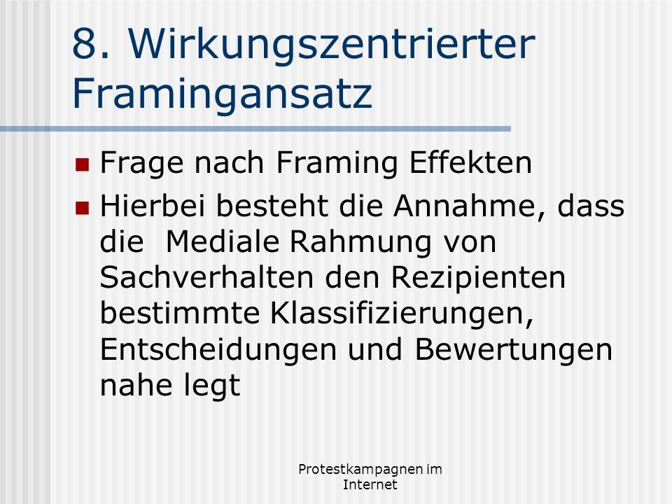 8. Wirkungszentrierter Framingansatz