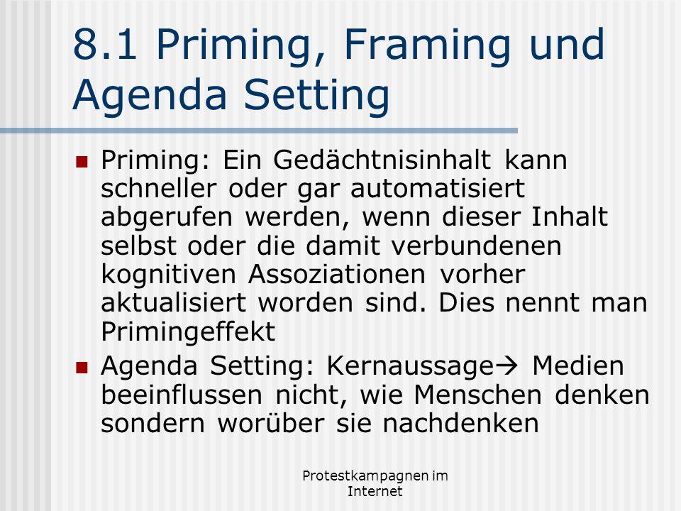 8.1 Priming, Framing und Agenda Setting