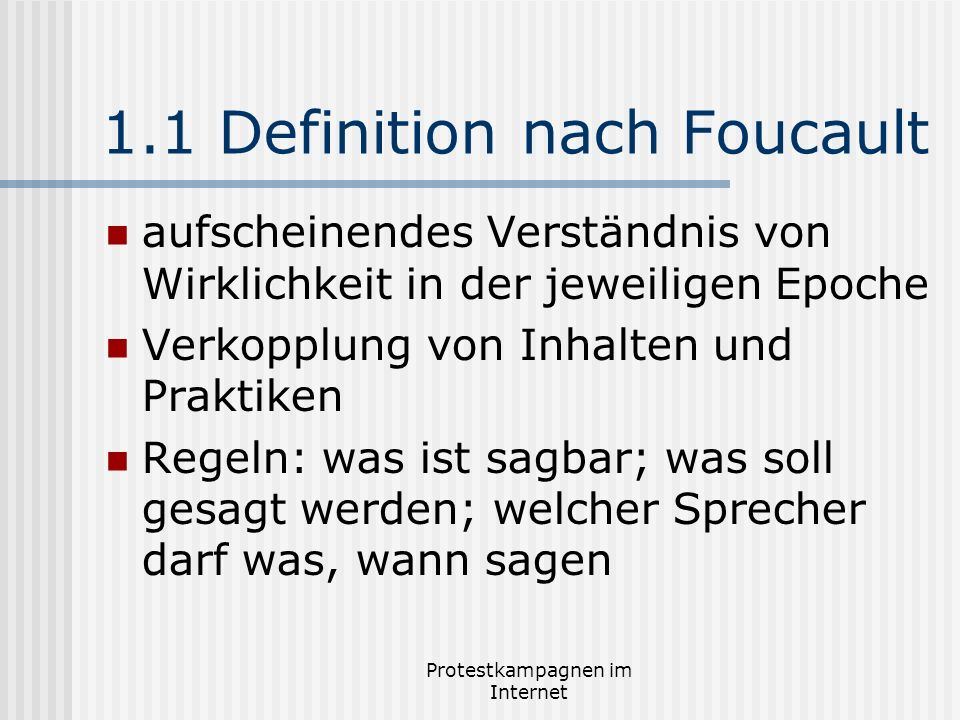 1.1 Definition nach Foucault