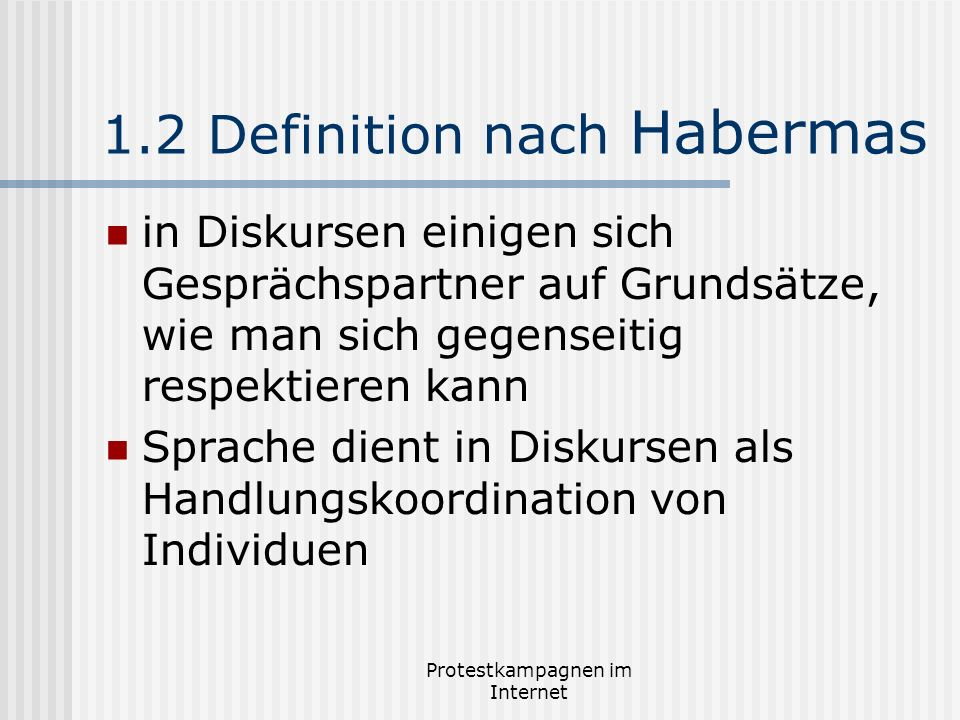 1.2 Definition nach Habermas