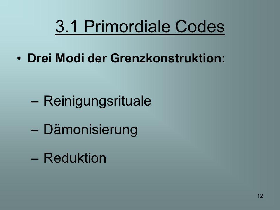 3.1 Primordiale Codes Reinigungsrituale Dämonisierung Reduktion