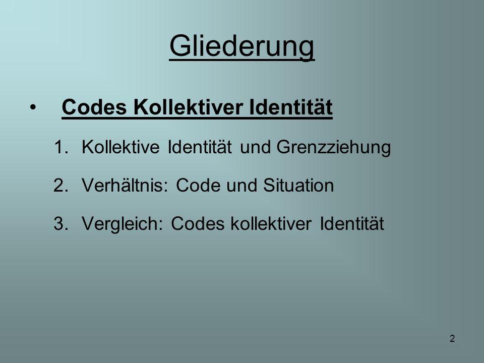 Gliederung Codes Kollektiver Identität