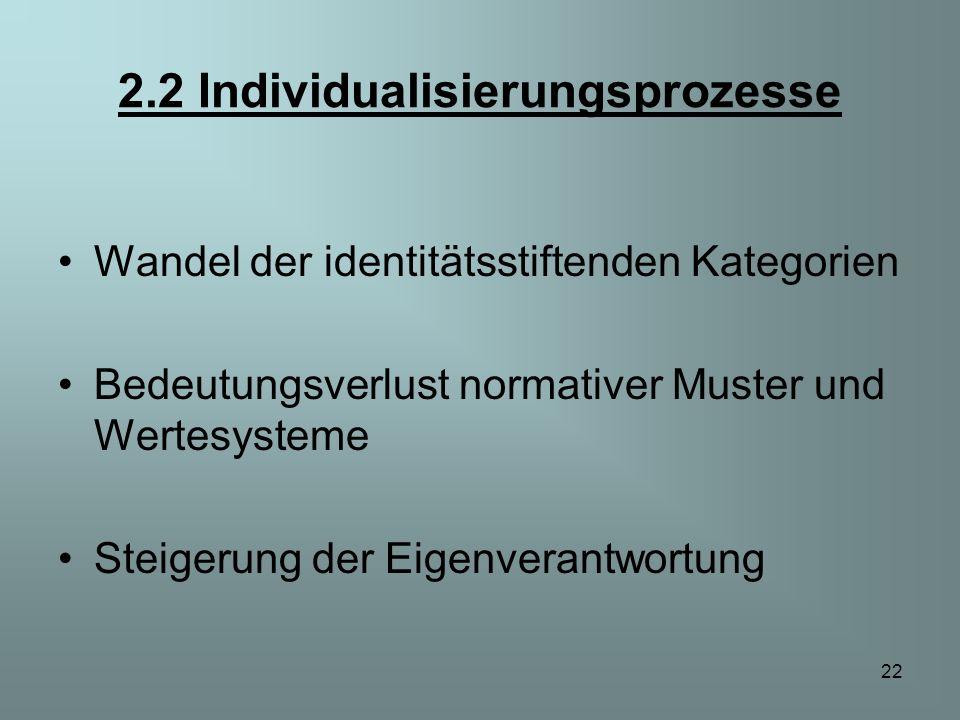 2.2 Individualisierungsprozesse