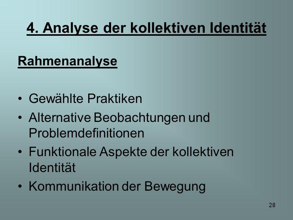4. Analyse der kollektiven Identität