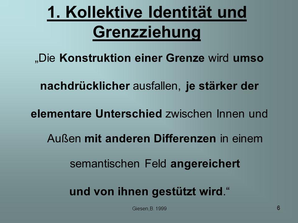 1. Kollektive Identität und Grenzziehung