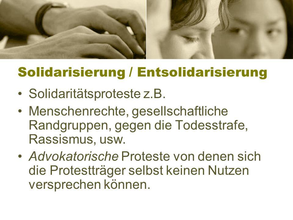 Solidarisierung / Entsolidarisierung