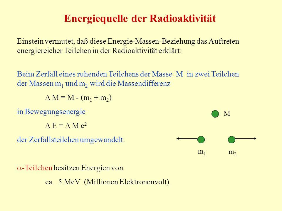 Energiequelle der Radioaktivität