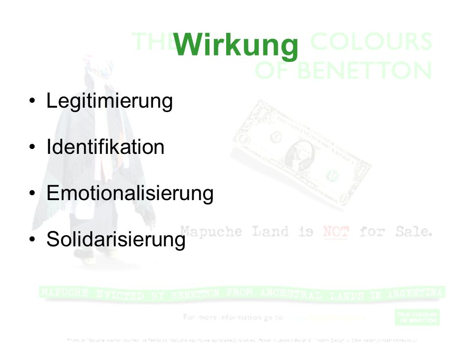 Wirkung Legitimierung Identifikation Emotionalisierung Solidarisierung