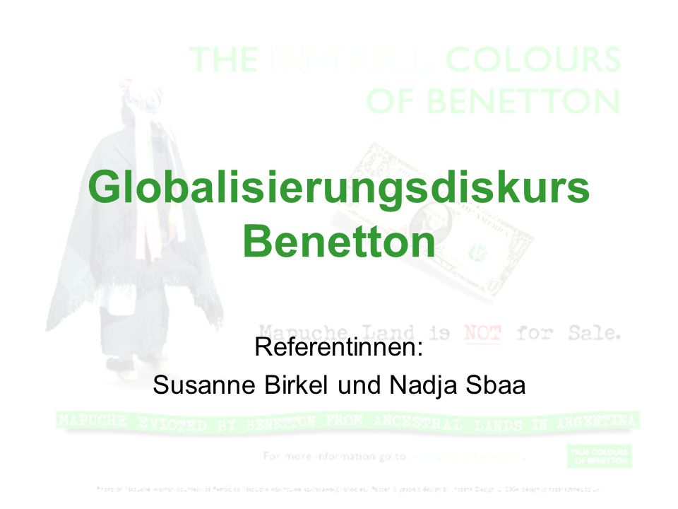 Globalisierungsdiskurs Benetton