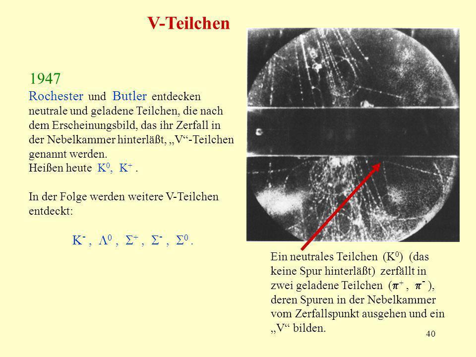 V-Teilchen 1947.