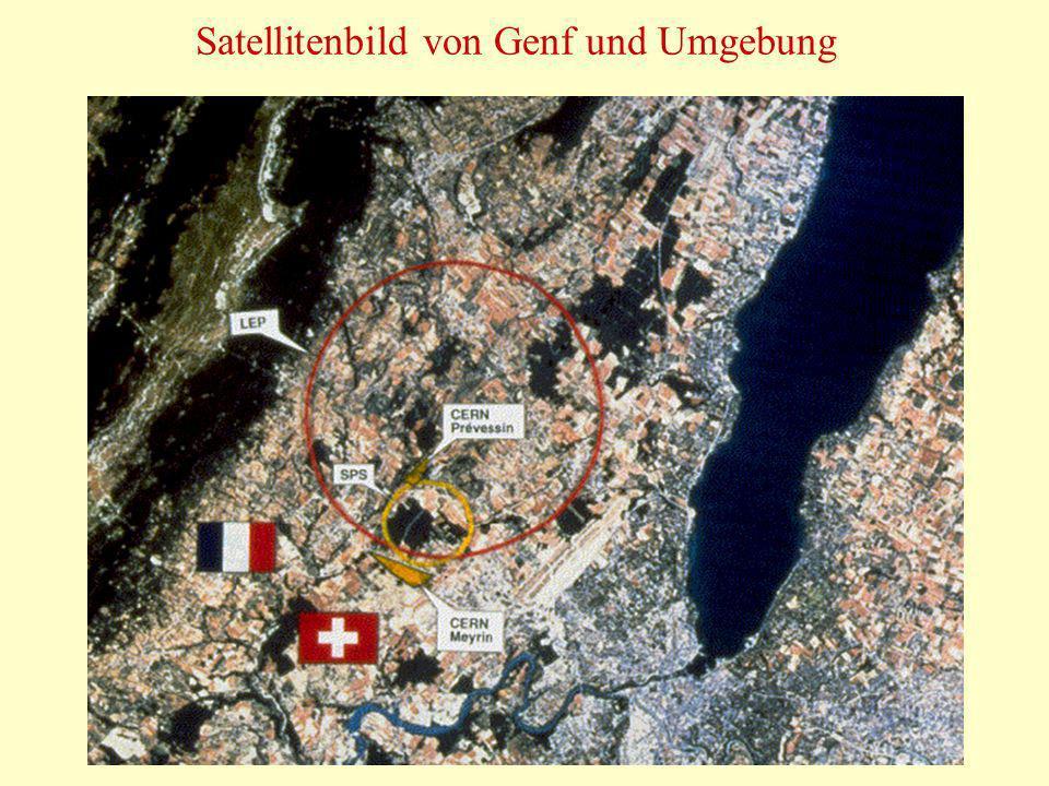 Satellitenbild von Genf und Umgebung