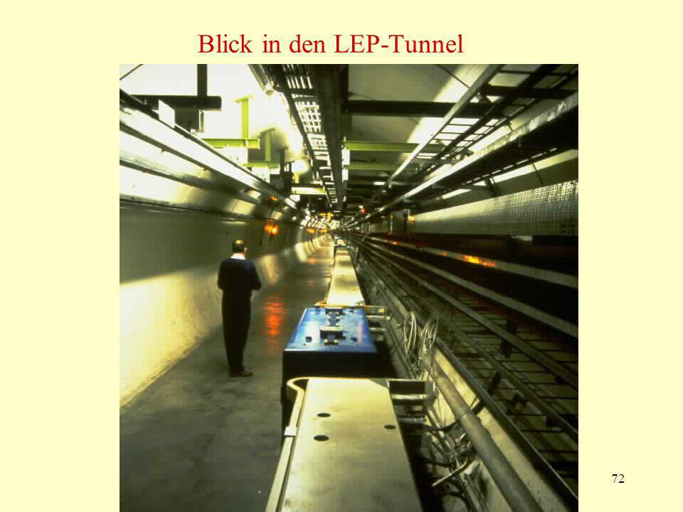 Blick in den LEP-Tunnel