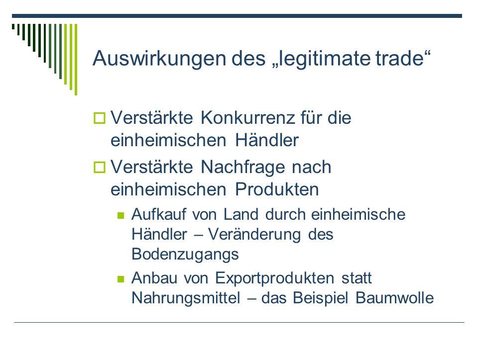 """Auswirkungen des """"legitimate trade"""