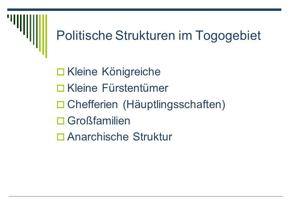 Politische Strukturen im Togogebiet
