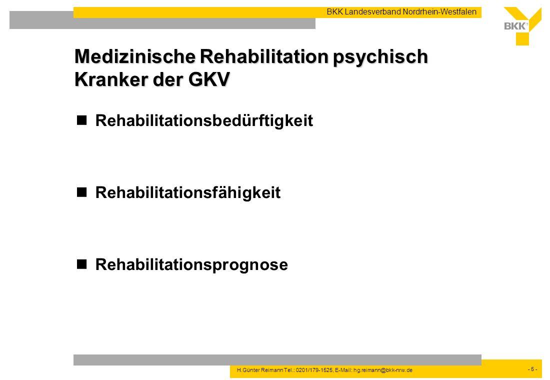 Medizinische Rehabilitation psychisch Kranker der GKV