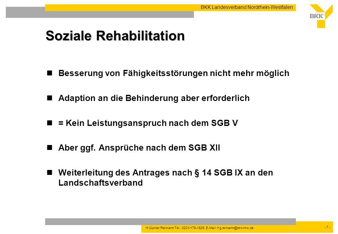Soziale Rehabilitation