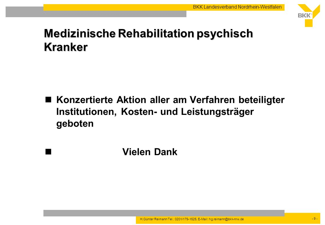 Medizinische Rehabilitation psychisch Kranker