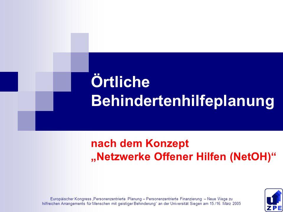 """nach dem Konzept """"Netzwerke Offener Hilfen (NetOH)"""