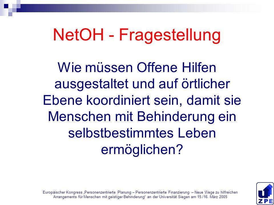 NetOH - Fragestellung