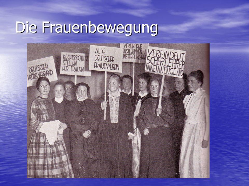 Die Frauenbewegung
