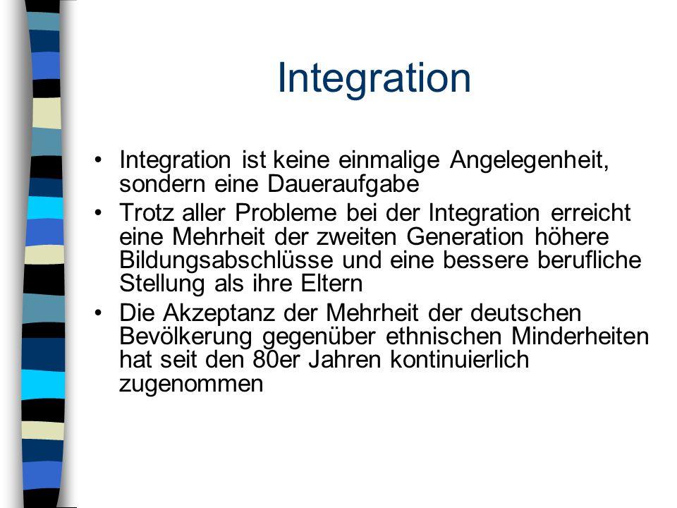 Integration Integration ist keine einmalige Angelegenheit, sondern eine Daueraufgabe.